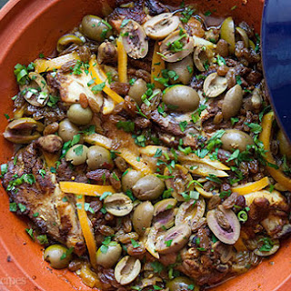 Moroccan Chicken with Lemon and Olives Recipe