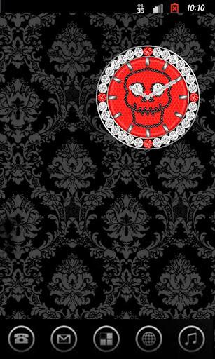 SKULL CLOCK ver5 ace red S