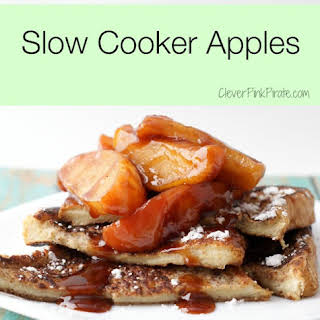 Baked Slow Cooker Apples.