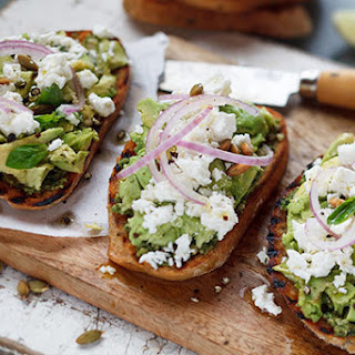 Avocado On Rhye With Feta And Toasted Pumpkin Seeds