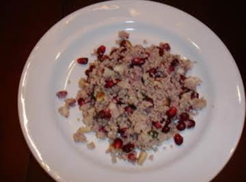 Couscous with Pomegranate, Mint and Pine Nuts