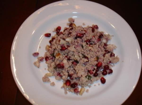 Couscous With Pomegranate, Mint And Pine Nuts Recipe