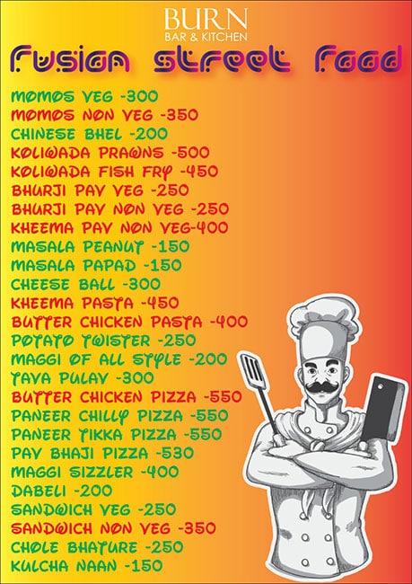 Burn Bar & Kitchen menu 14