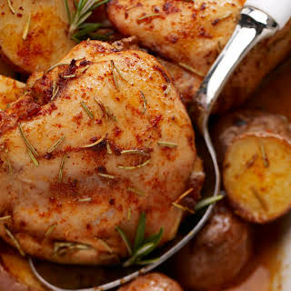 Rosemary Baked Chicken with Potatoes.