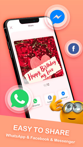 Birthday Stickers For WhatsApp-Love & Emoji screenshot 4