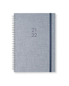 Kalender 2021-22 Newport vecka/notes Denim