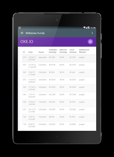 Oke.io - Shorten Urls and Earn Money! 1.0 screenshots 13