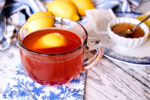 Hot Toddy With A Lemon Wedge.