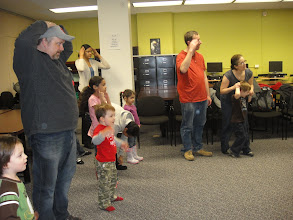 Photo: Family Arts Saturdays took place on Saturdays in February and March 2011. Graduate Candidates facilitated theatre activities for children ages 2-5 years of age (families and siblings welcome too!).