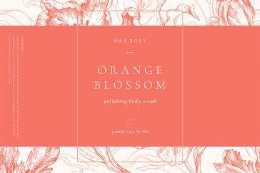 Orange Blossom Scrub - Label template
