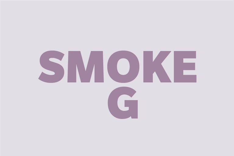 "Rebus puzzle ""Smoke G"""
