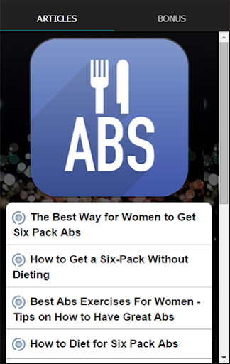 ABS的飲食婦女在一個星期