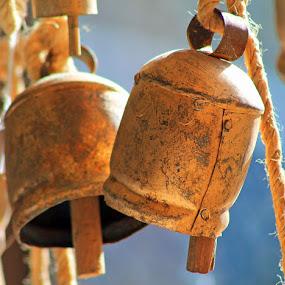 Tibetan Bells by Glenys Lilley - Artistic Objects Antiques ( bells, tibet )