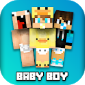 Baby Boy Skins For MCPE icon