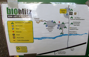 """Photo: Map of our side of the Blitz (more stuff was near the Visitor Center). We were at the """"Science Center""""."""