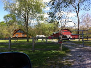 Photo: friends house in Kentucky, I'm so sore for riding a horse, how did they do that?back in the day.