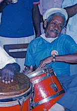 Photo: Monguito. Rumba à la Casa del Caribe - janvier 1993