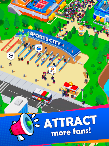 Idle Sports City Tycoon Game: Build a Sport Empire apkpoly screenshots 16