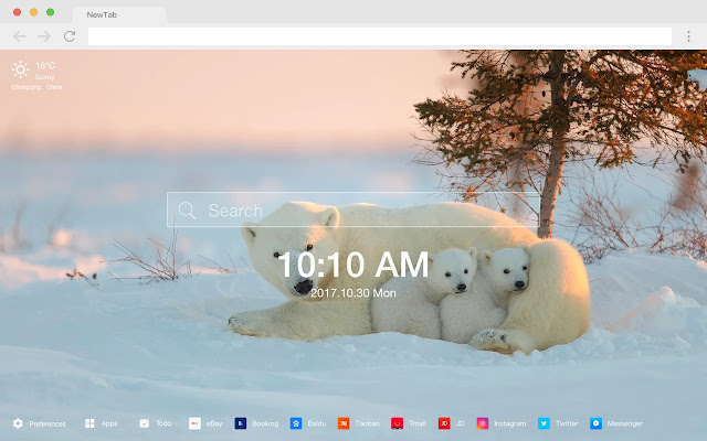 Bear New Tab Page HD Wallpapers Themes