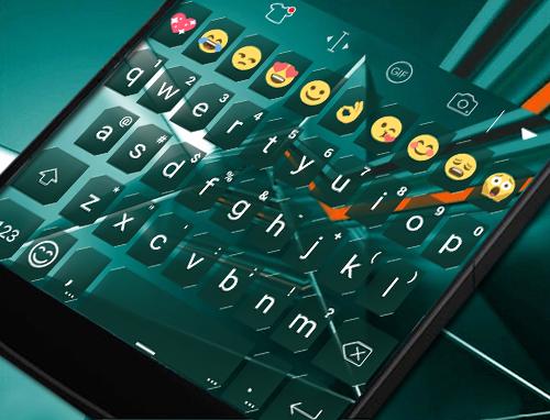 3D Geometry Emoji Keyboard-Gif