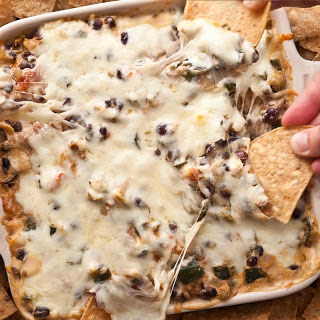 Spicy Chicken and Chile Taco Dip.