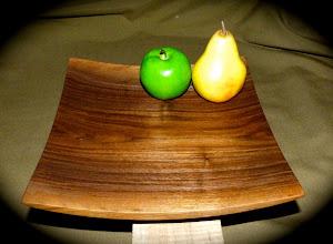 Photo: black walnut tray  (sold)