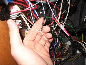 Photo: El cable negativo, lo conecto al retorno de todos los contactos magnéticos de la alarma.