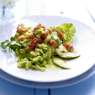 Crawfish Salad with Cucumber Dressing.