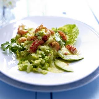 Crawfish Salad with Cucumber Dressing.