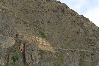 Photo: Ollantaytambo. Storage facility.