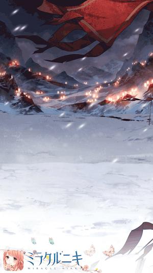 背景-雪夜の激戦