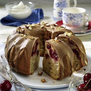 Cherry and Hazelnut Bundt Cake