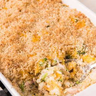 Chicken Broccoli and Rice Casserole.