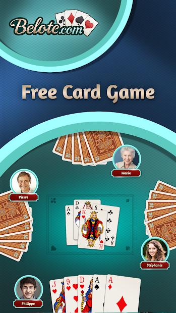 Belote.com - Free Belote Game Android App Screenshot