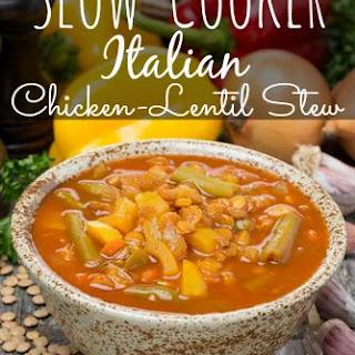 Slow Cooker Italian Chicken Lentil Stew
