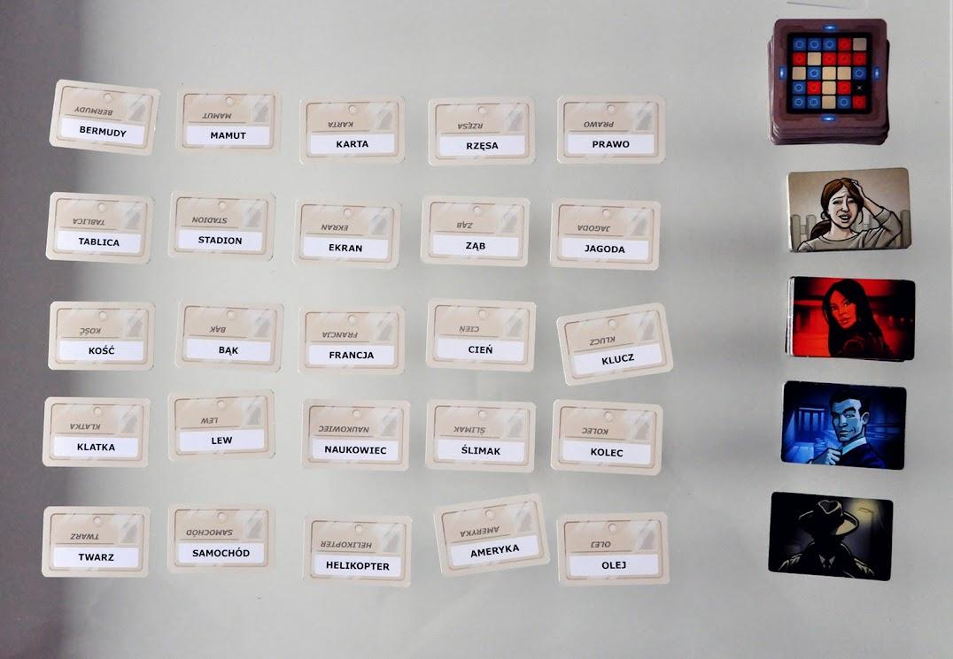 Tajniacy - układ kart