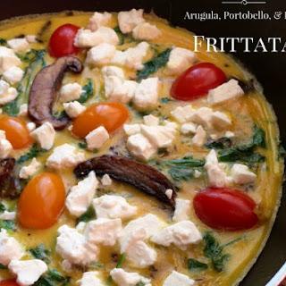 Arugula, Portobello, & Feta Frittata Recipe
