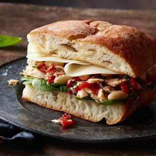 Italian Tuna, Spinach & White Bean Sandwiches.