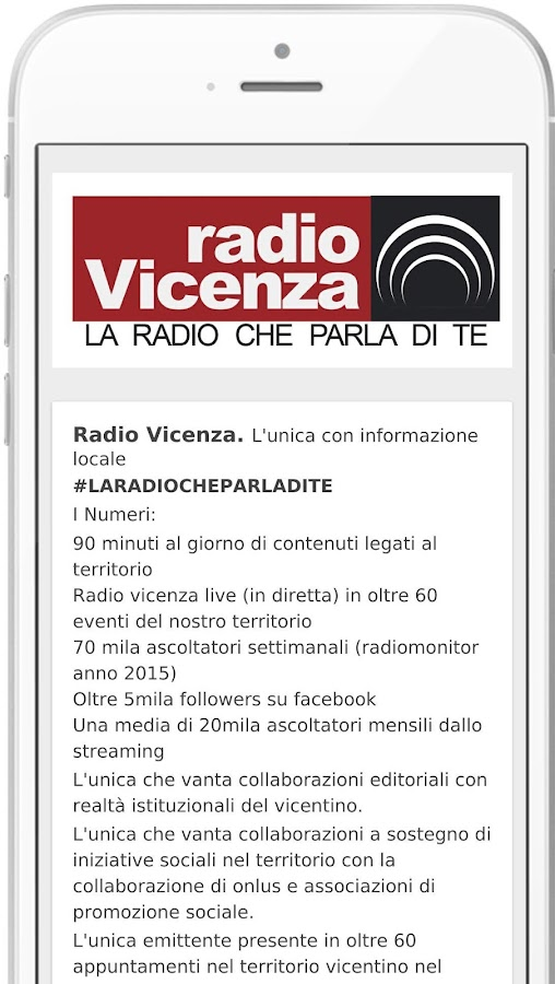 Radio Vicenza- screenshot