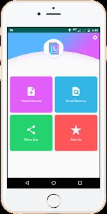 free resume maker app cv builder app free template screenshot thumbnail - Free Resume Builder App