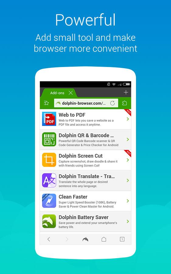 Screenshots of Dolphin Browser Express: News for iPhone