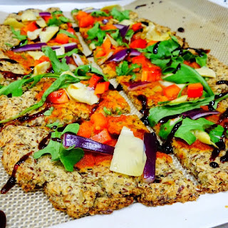 Arugula and Artichoke Grain-Free Vegan Flatbread.