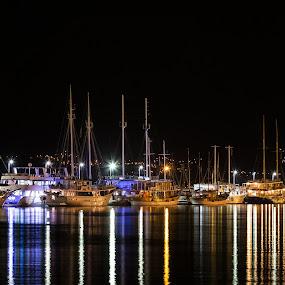 Port of Rijeka by Ivica Bajčić - City,  Street & Park  Night ( port, rijeka, vacation, relax, ship, croatia, night, visitrijeka, boat )