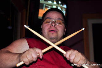 Photo: John in a Peter Criss pose.