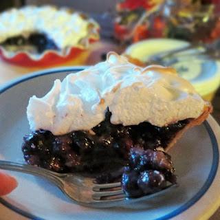 Blueberry Cream Pie with Almond Meringue – Pi Day of the Century! Recipe