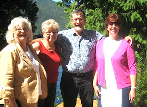 Photo: Christina Lake BC. August 14/10. Mae Popoff, Marilyn & Elmer Vergin, Irina Anosova. Mae Popoff Photo