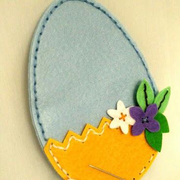 Easter Felt Egg with pocket (in DIY package)
