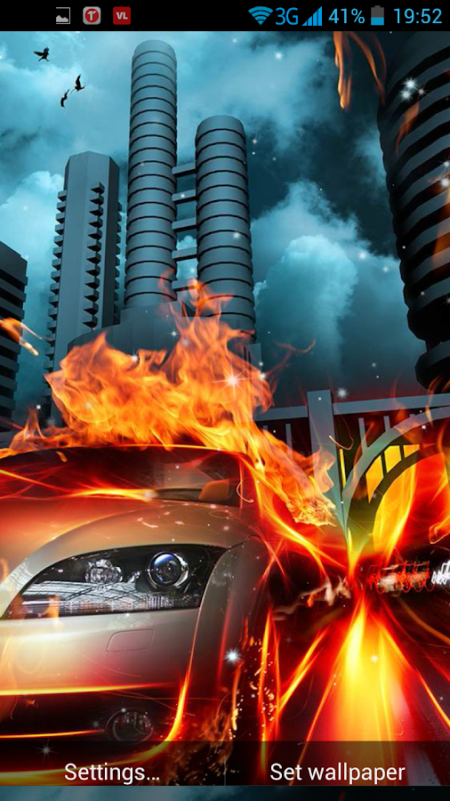 Cars on fire live wallpaper android apps on google play - Car live wallpaper ...