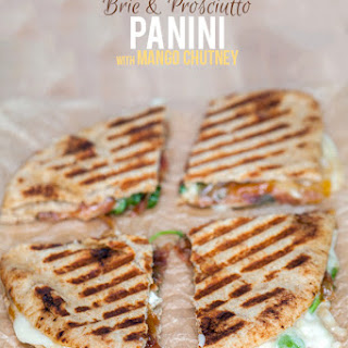 Brie and Prosciutto Panini with Mango Chutney