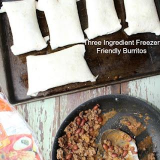 Three Ingredient Freezer Friendly Burritos